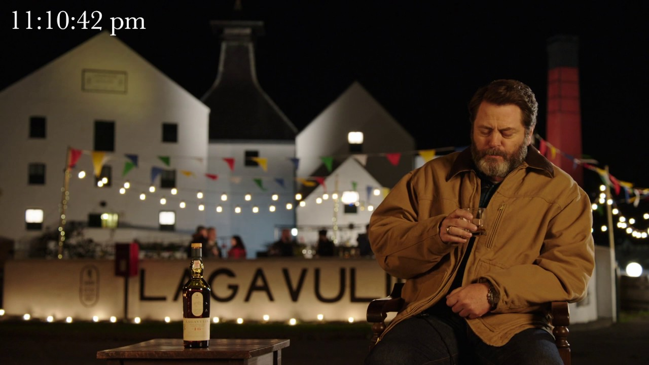Nick Offerman Silently Sips Single Malt Scotch Whisky Alone to Celebrate New Year's Eve