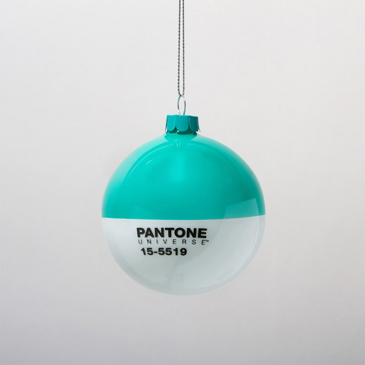 pantone color swatch christmas ornaments