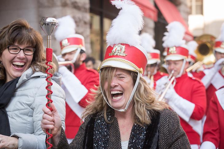 Parade Leader Happy Woman