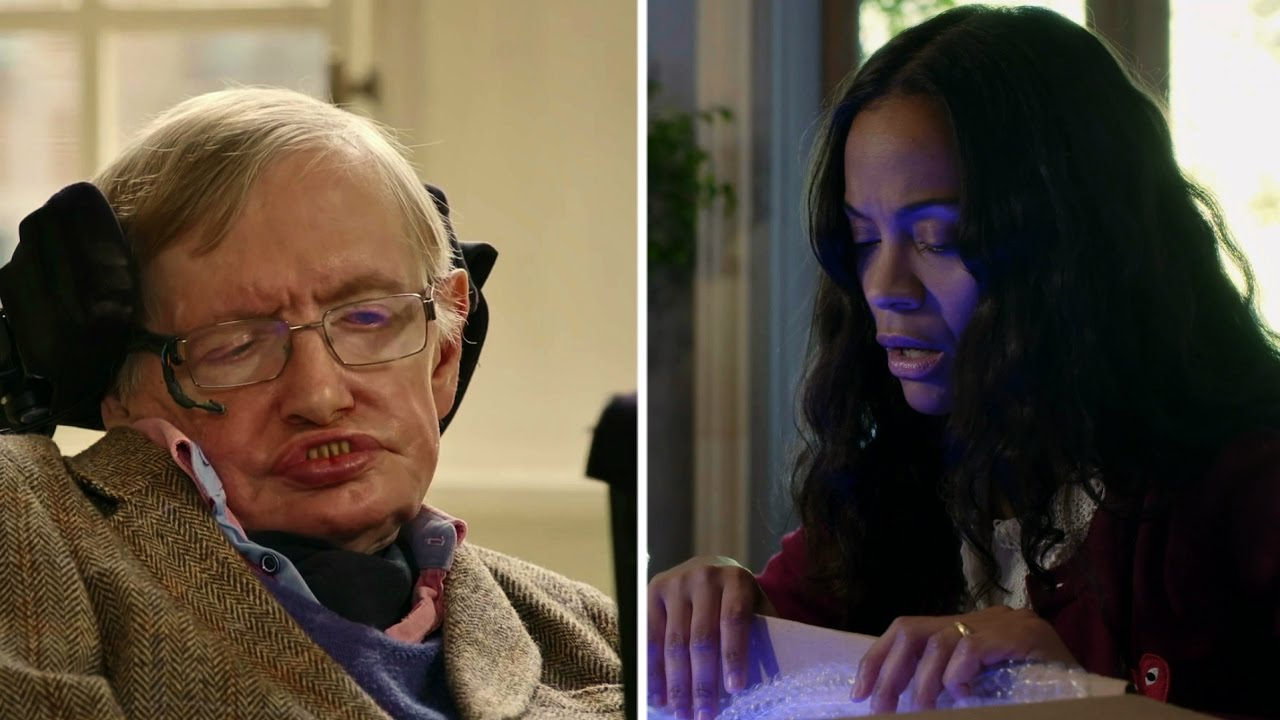 Steven Hawking and Zoe Saldana Use Quantum Physics to Rescue Simon Pegg's Cat Schrödinger
