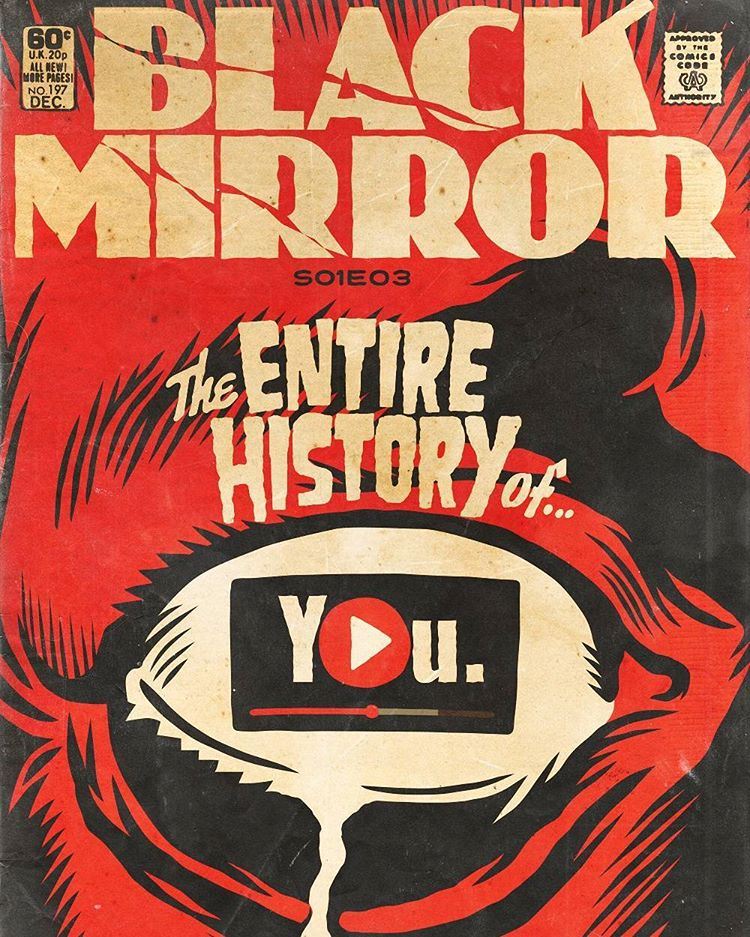 Classic Comic Book Cover Art : Episodes of black mirror brilliantly transformed into