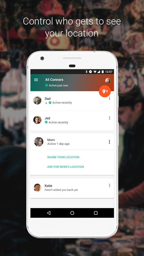 Trusted Contacts Control