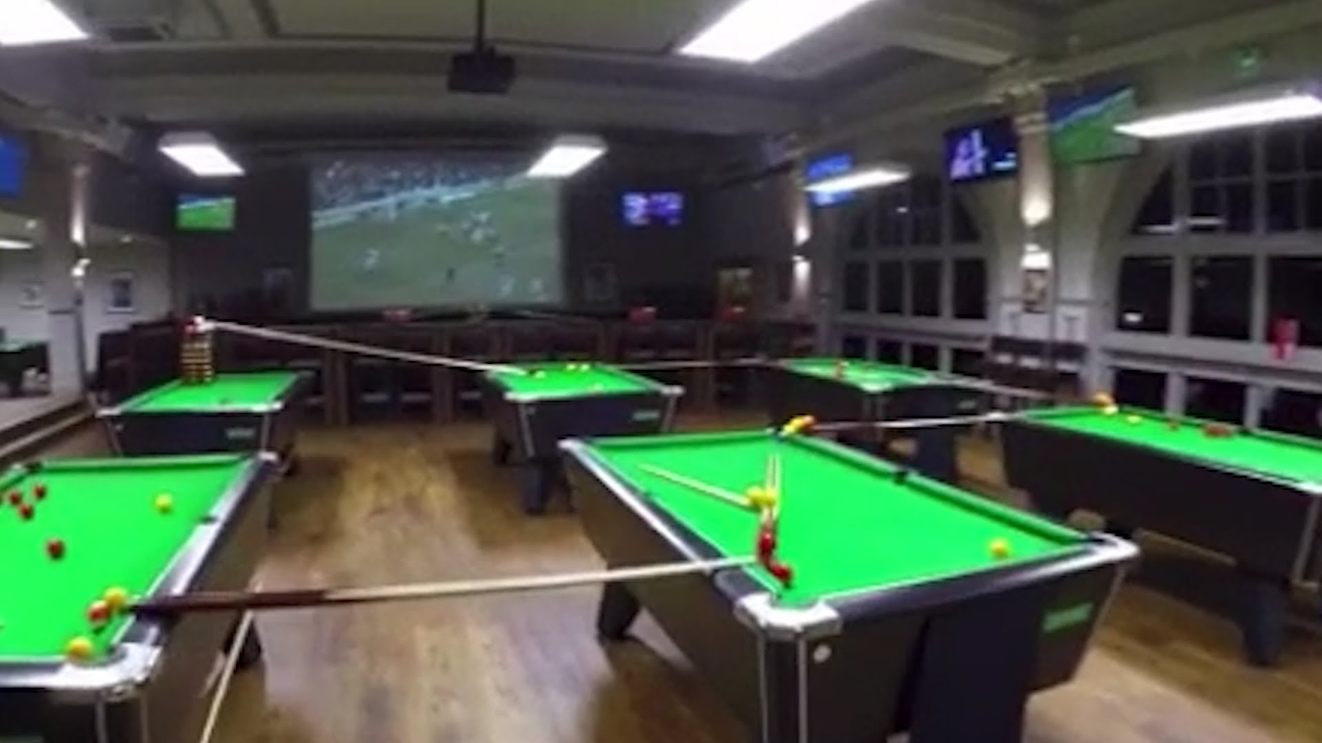 Incredible rube goldberg trick shot that spans multiple billiards incredible rube goldberg trick shot that spans multiple billiards tables and two flights of stairs watchthetrailerfo