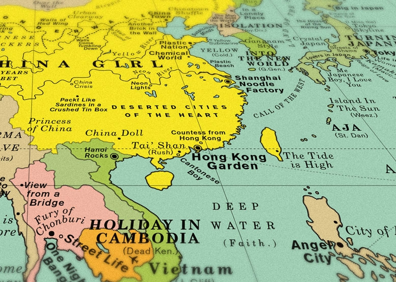 World Song Map A Detailed Poster That Imagines the World Map Made