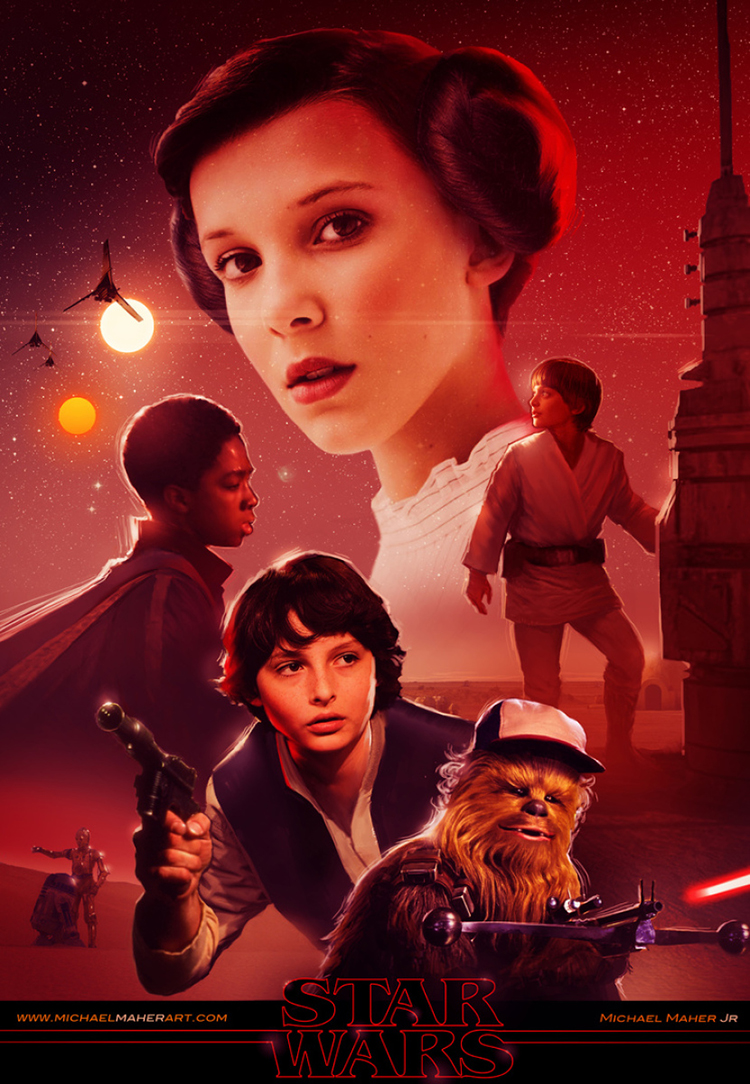 The Cast of Stranger Things Meets Star Wars in an Amazing Fan Made