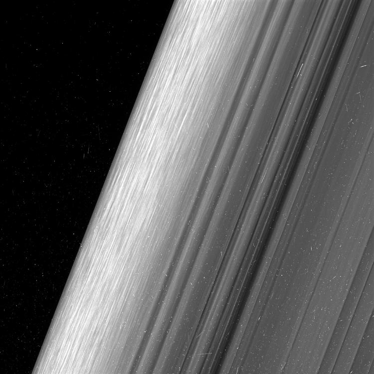 Cassini Saturn Rings Edge