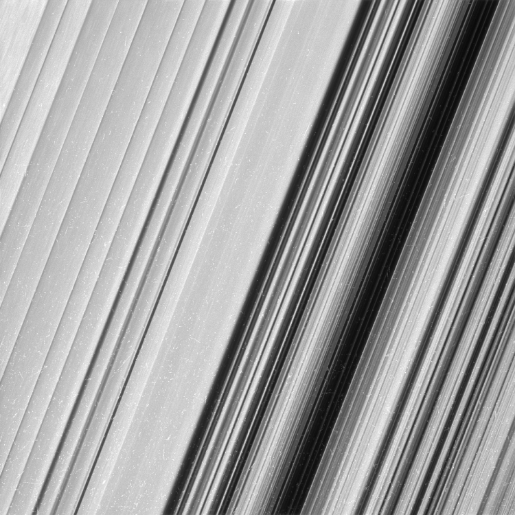 Cassini Saturn Rings Lines