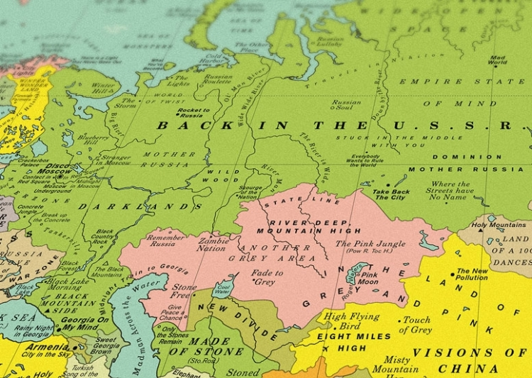 World song map a detailed poster that imagines the world map made east europe gumiabroncs Image collections
