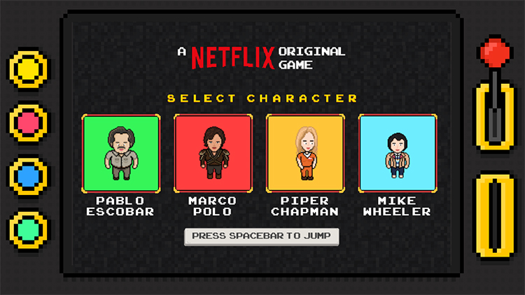 Flixarcade, Netflix's Side-Scrolling Infinite Runner Browser Game Based on Their Original Shows