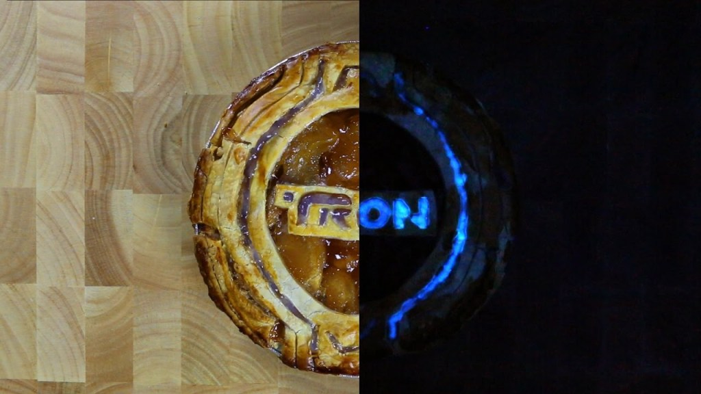 How to Make an Edible TRON Pie That Glows Under a Black Light
