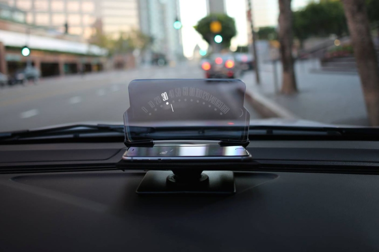 hudway glass turns any smartphone into a car heads up navigation display. Black Bedroom Furniture Sets. Home Design Ideas