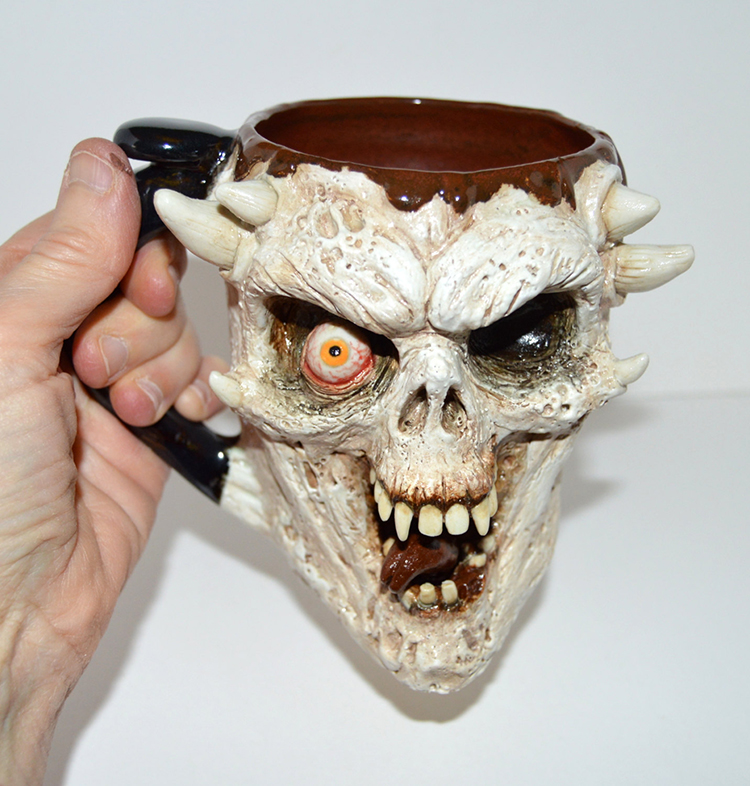 Laughing Zombie Skull