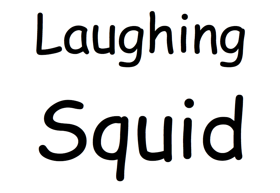 Laughing Squid Comic Sans