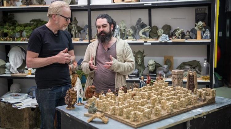 Adam Savage Admires Weta Workshop Sculptor's Intricate Mini Version of the 'Labyrinth' Maze
