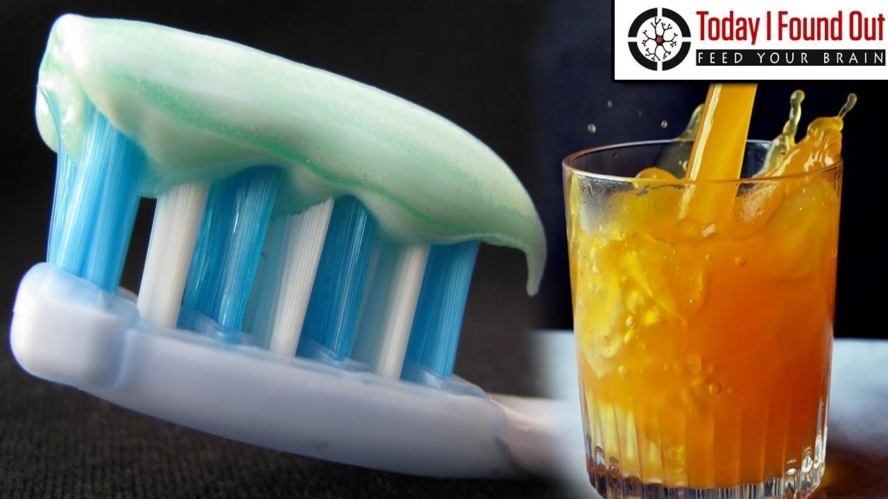 Why Toothpaste Ruins the Taste of Orange Juice