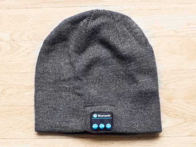 Wireless Beanie Bluetooth Hat Gray