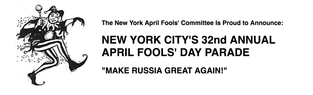 New York City's 32nd Annual April Fool's Day Parade