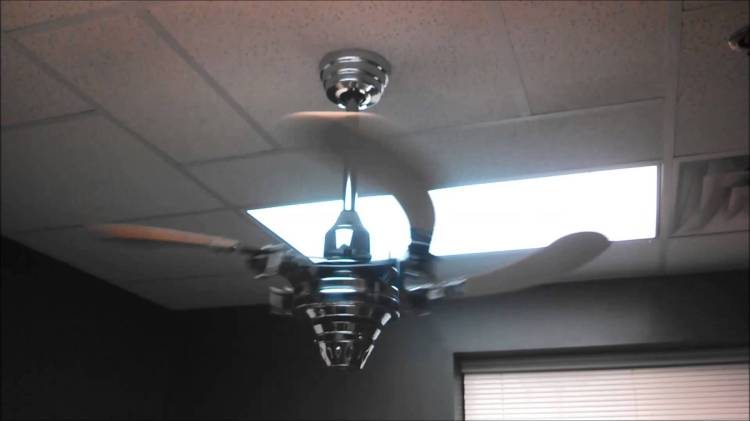 An Air Shadow Ceiling Fan Spins Its Unusual Retractable