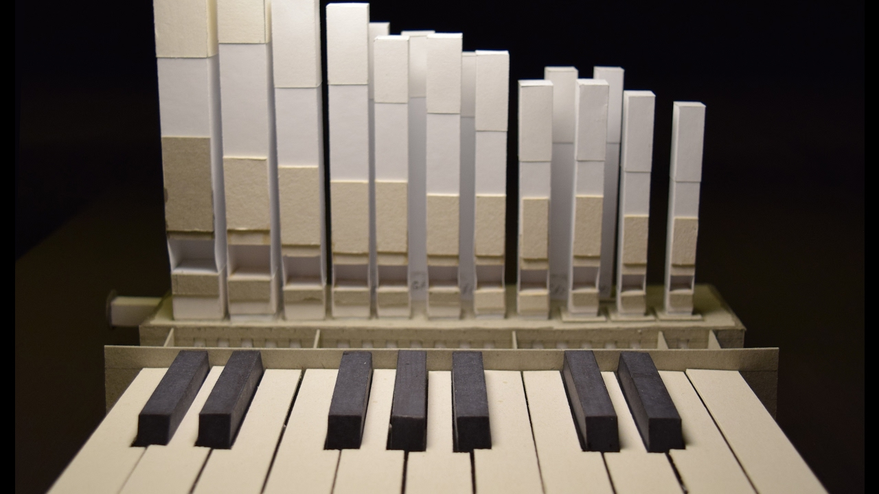 An Amazing Working Miniature Pipe Organ Made Completely Out