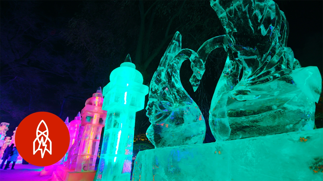 Award Winning Artist Shares How He Creates Ice Installations for the Annual Festival in Harbin, China