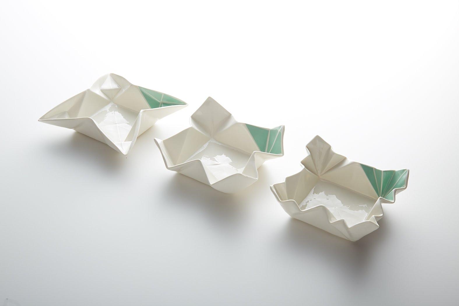 Beautifully Designed Ceramic Origami Dishware