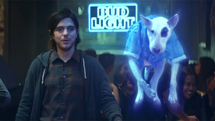 The ghost of spuds mackenzie reunites a dude with his friends in bud the ghost of spuds mackenzie reunites a dude with his friends in bud lights new super bowl ad aloadofball Images