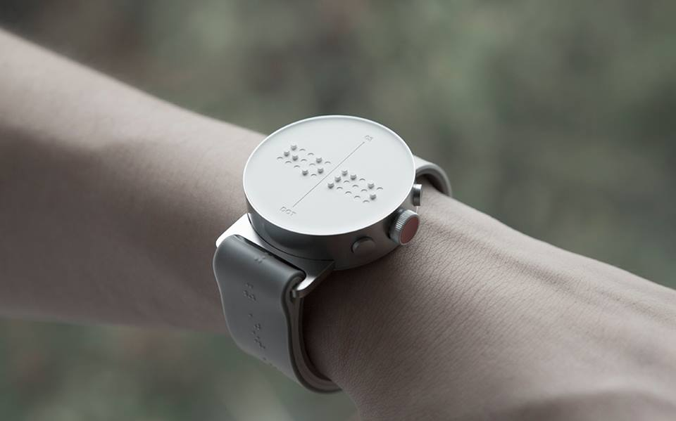 Dot Watch, A Stylish Braille Smartwatch for the Blind