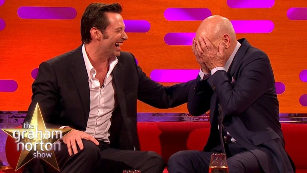 Hugh Jackman Cracks Up Over Sir Patrick Stewart's Circumcision Story on The Graham Norton Show