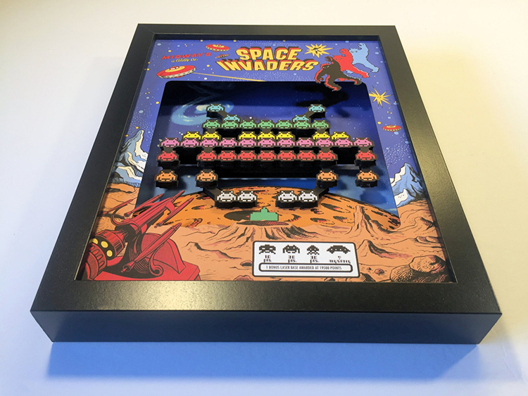 3D Video Game Shadow Boxes Based on Old School Arcade and Console Games