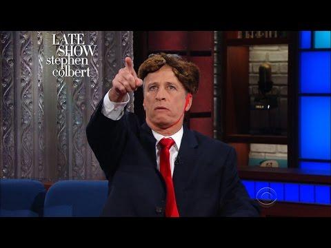Jon Stewart Reunites With Stephen Colbert to Predict Trump's Next Round of Executive Orders