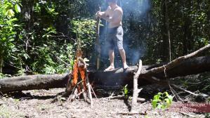 Primitive Technology Burning Log