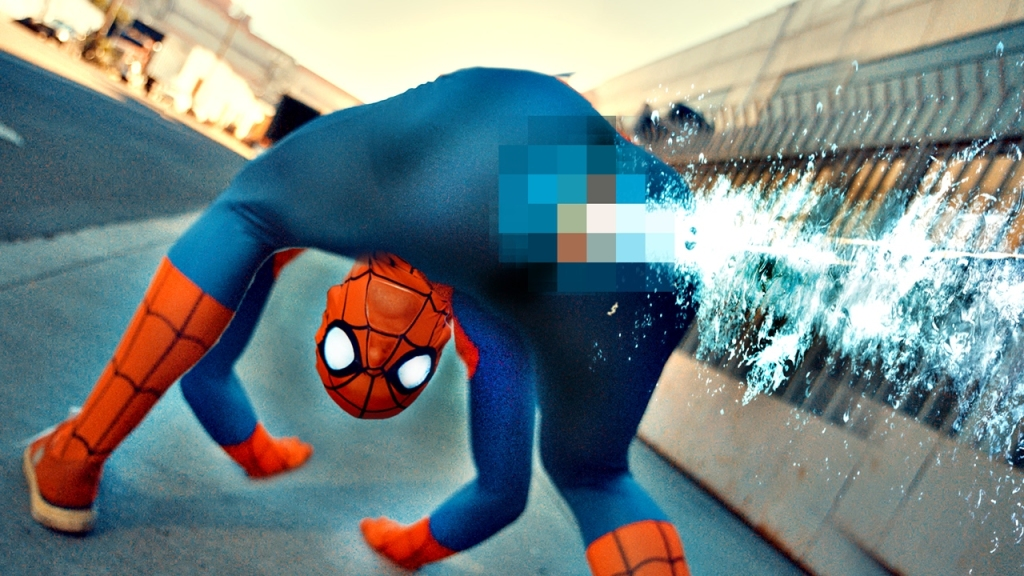 The Amazing Anatomically Correct Spider-Man Fights Evil by Shooting Web Out of His Butt