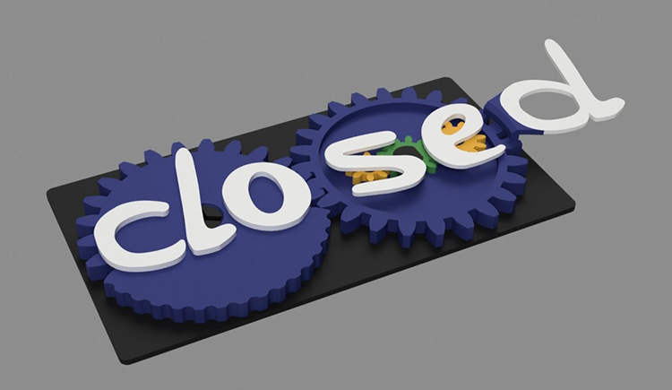 3D Printed Open and Closed Sign