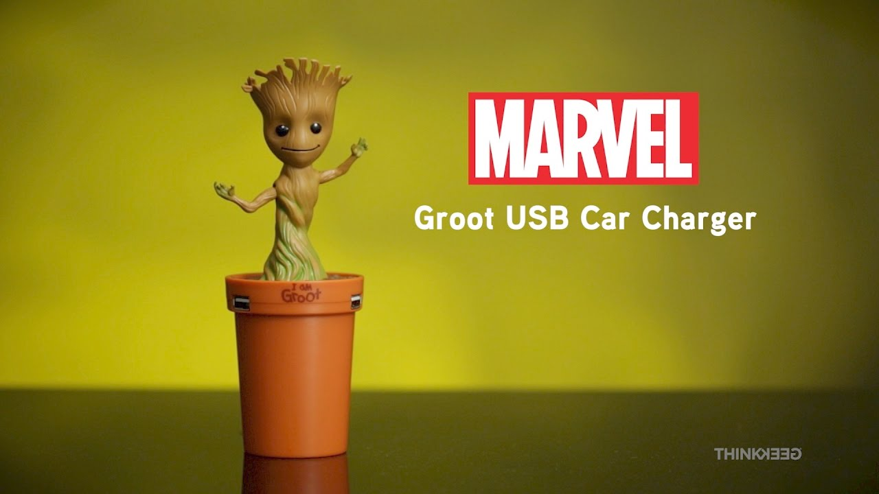 Adorable Dancing Baby Groot Usb Car Charger