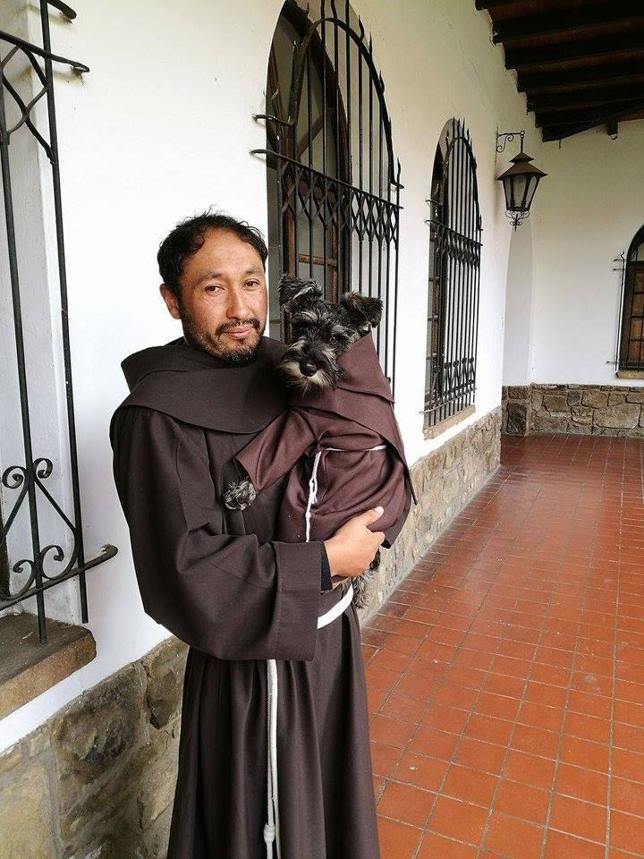 Friar bigot n a pious stray dog adopted into a bolivian for The fish friar
