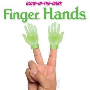Glow-in-the-Dark Finger Hands