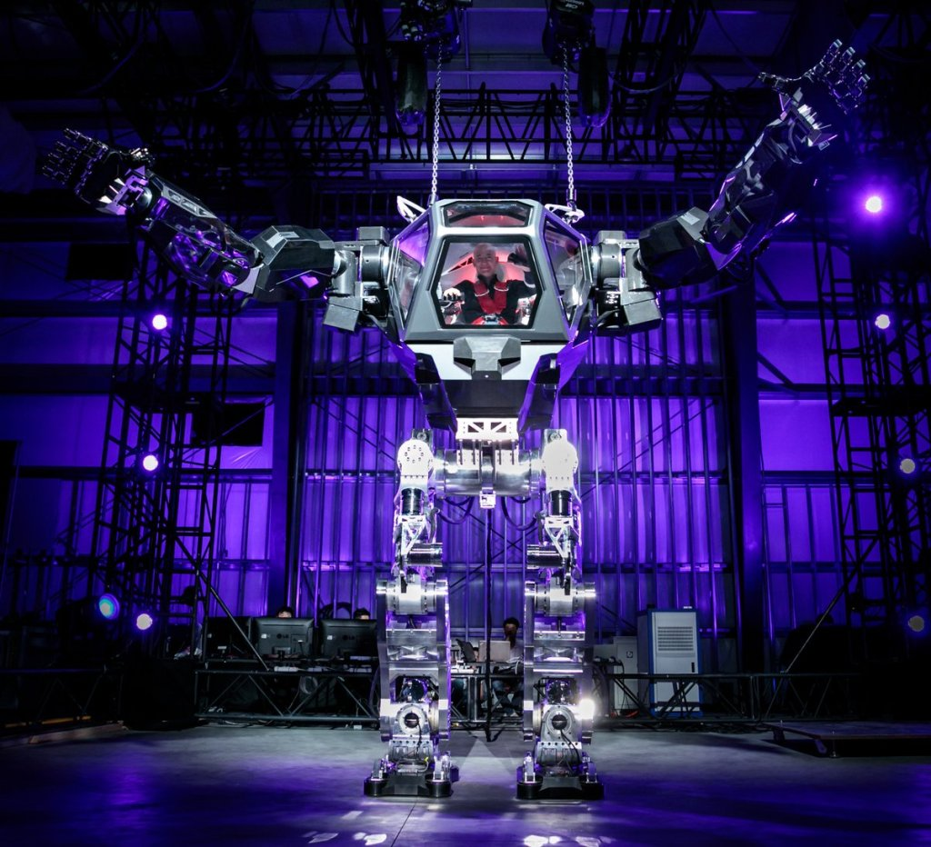 Jeff Bezos Giant Robot Suit