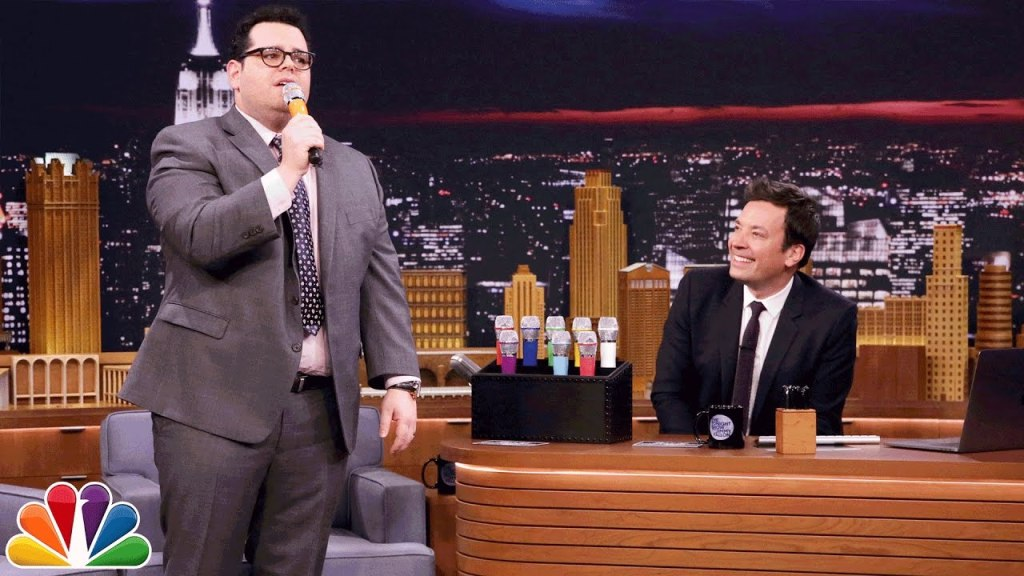 Josh Gad and Jimmy Fallon Sing a Medley of Disney Songs Using Different Vocal Effects