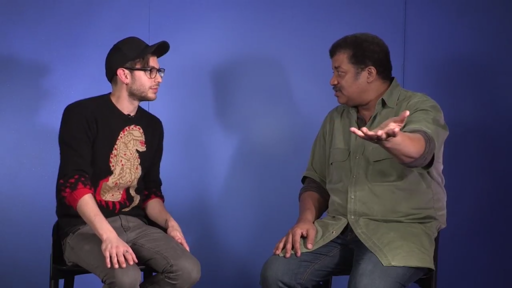 Neil deGrasse Tyson and Jake Roper