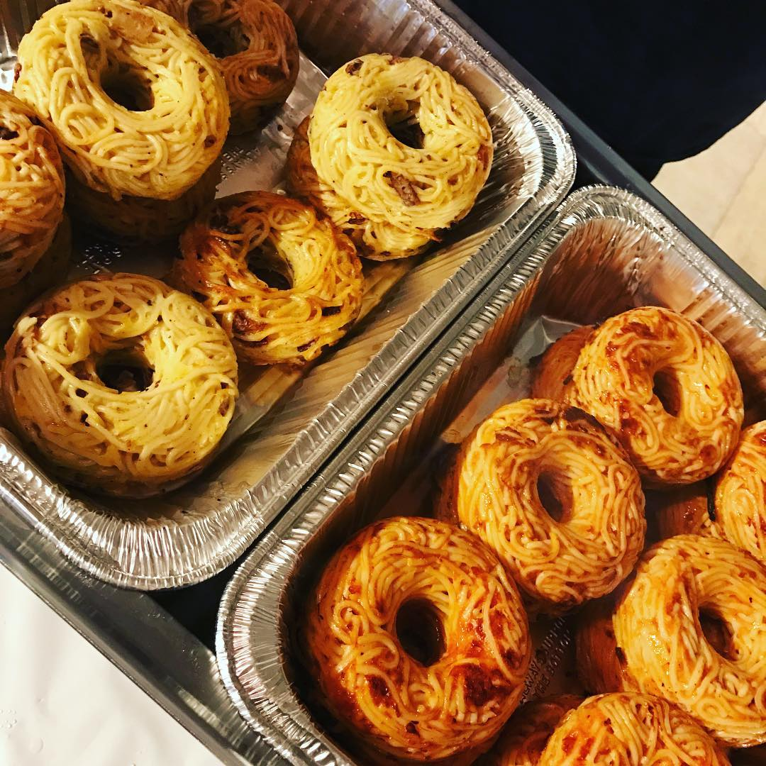 Pop Pasta, Unique Savory Donuts That Are Made Out of Spaghetti and Baked In Brooklyn