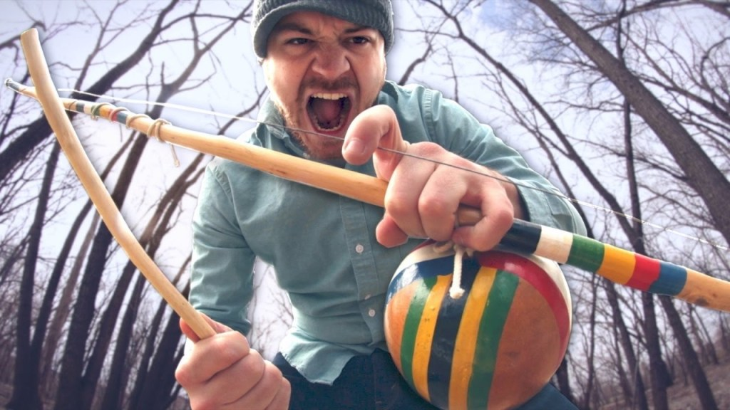 Rob Scallon Rocks Out a Low Ringing Heavy Metal Tune on a Single String Brazilian Berimbau