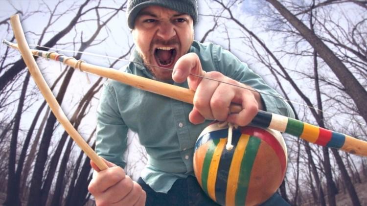 Rob Scallon Rocks Out a Low Ringing Heavy Metal Tune on a Single String Brazilian Berimbau