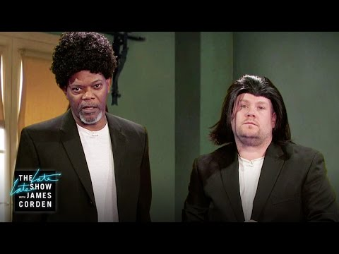 Samuel L. Jackson and James Corden Quickly Act Out Highlights From Jackson's Illustrious Career