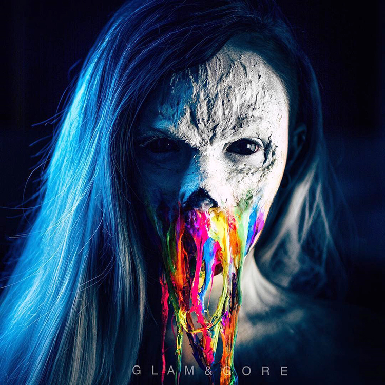 A Creepy Glowing Rainbow Neon Zombie Special Effects Makeup Tutorial
