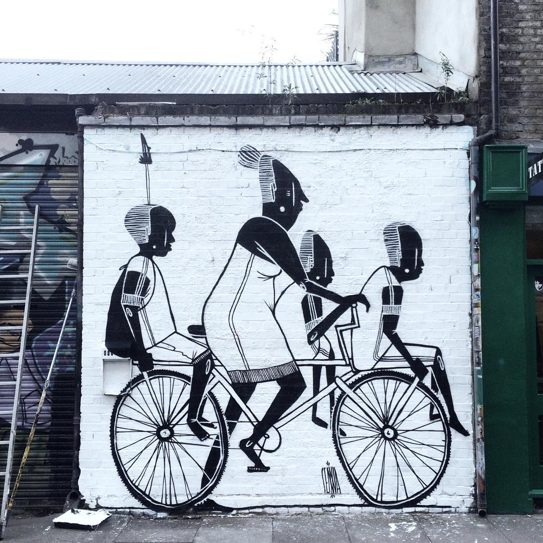 Vintage Amazing Black and White Wall Murals Featuring Amusingly Elongated Characters in Familiar Scenes