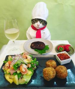 Cosplay Chef Cat Croquets