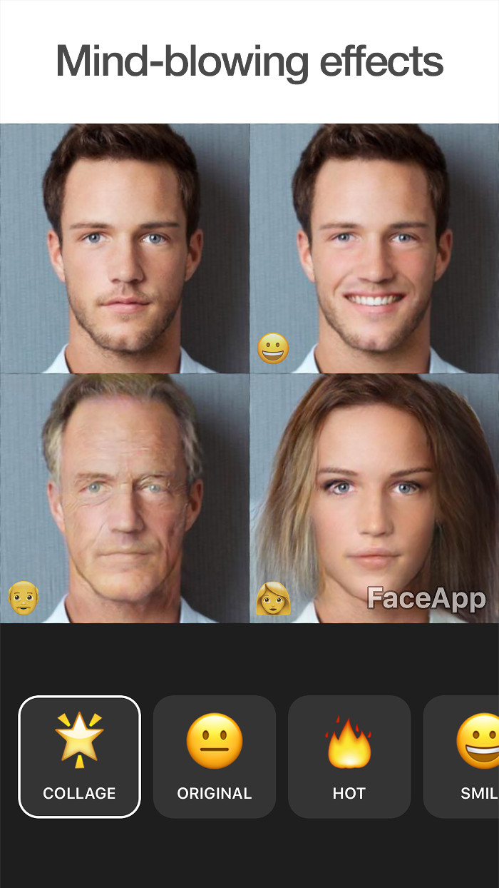 FaceApp, An App That Uses Artificial Intelligence to Add a Smile or