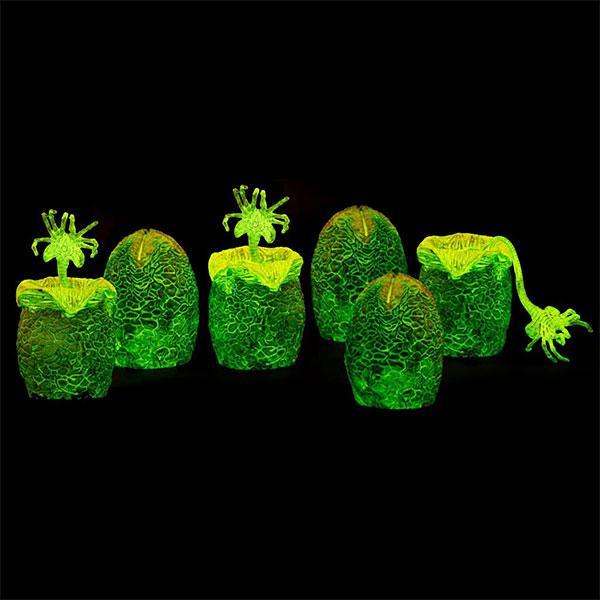 Glow in the Dark Alien Xenomorph Eggs in a Carton
