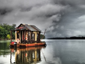 Storm Looms Over the Shantyboat