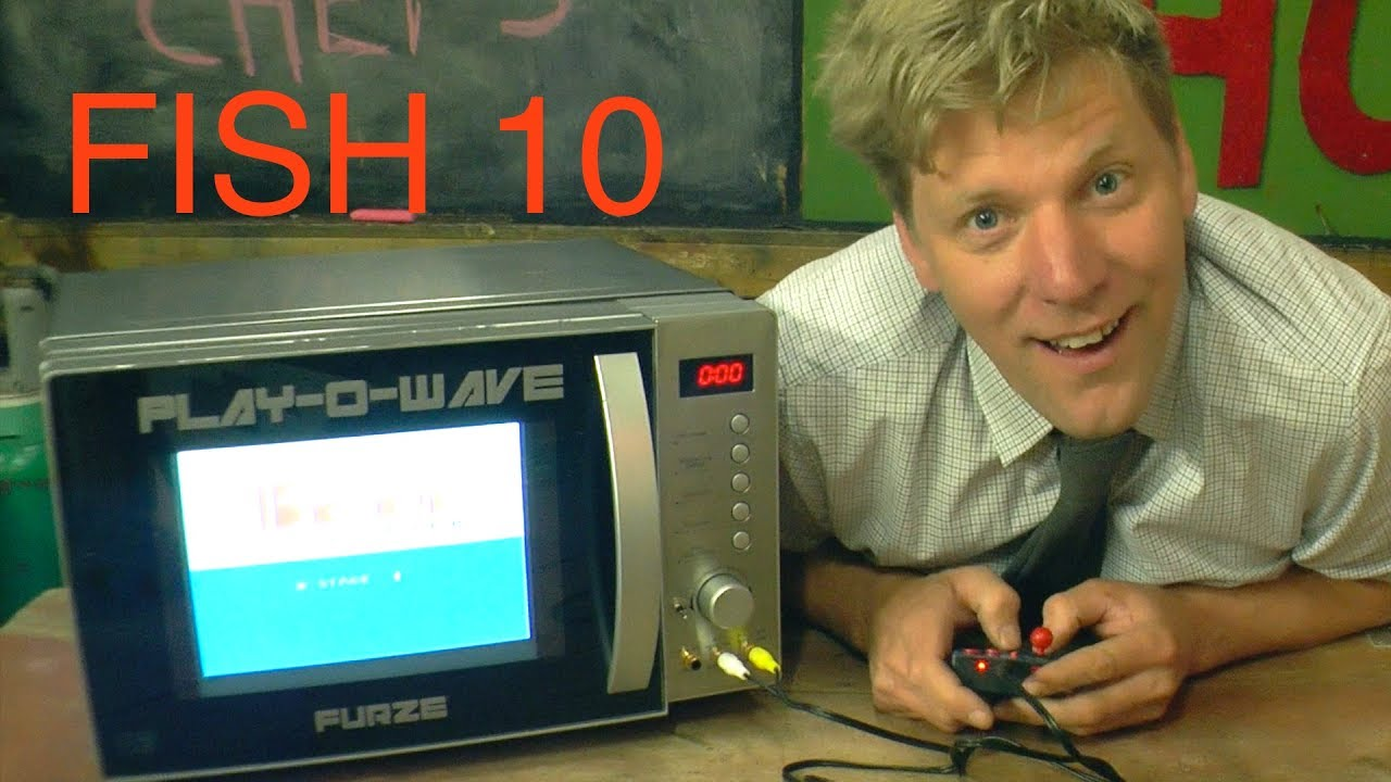 Inventor Colin Furze Turns a Microwave Oven Into a Video Game Console to Play While Cooking